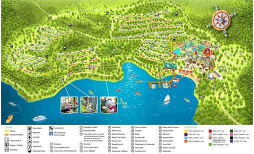 Parkplan von Center Parcs Park Bostalsee in Park Bostalsee