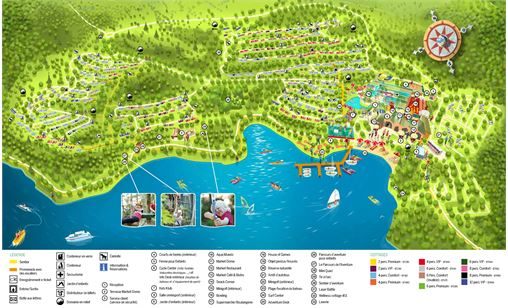 Le plan du  Center Parcs Park Bostalsee