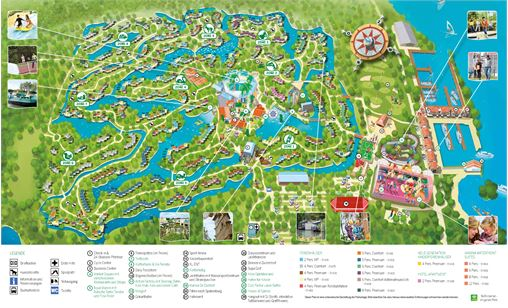 Plan von Center Parcs De Eemhof