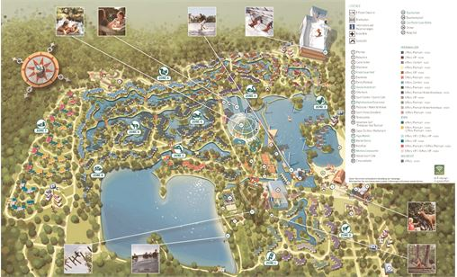 Parkplan von Center Parcs De Kempervennen in De Kempervennen